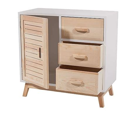 mueble auxiliar en madera de pino  dm  blanco