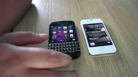 blackberry q10 vs iphone 4s
