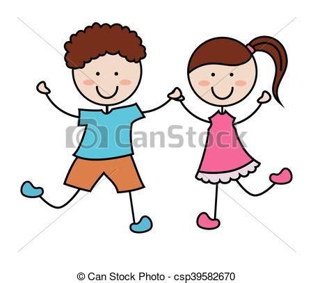 Imagenes De Niños Alegres En Caricatura | ni 241 os caricatura icono vector ni 241 os caricatura