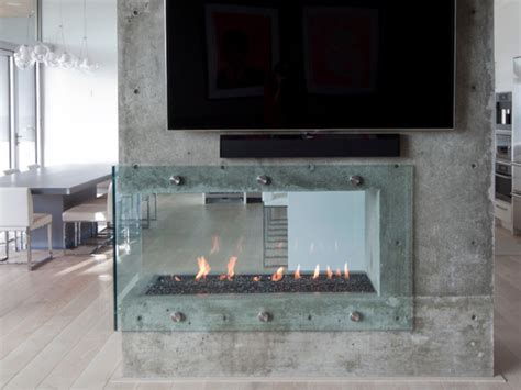glass enclosed fireplace grape vine realty inc
