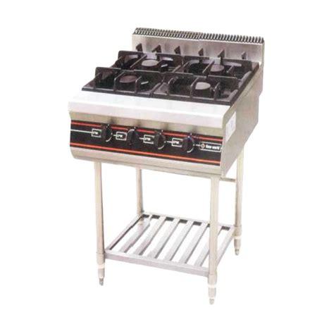 Getra Rbj 4 Gas Open Burner Kompor Komersial 4 Burner With Oven jual getra rbd 4 gas open burner with stand khusus jabodetabek harga kualitas