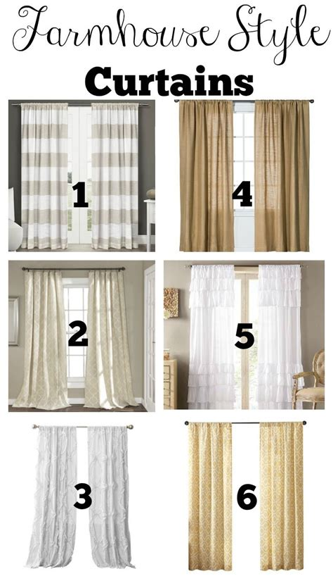 Industrial Style Curtains Transitioning To Farmhouse Style Shopping Guide Farmhouse Style Curtains Farmhouse Style And