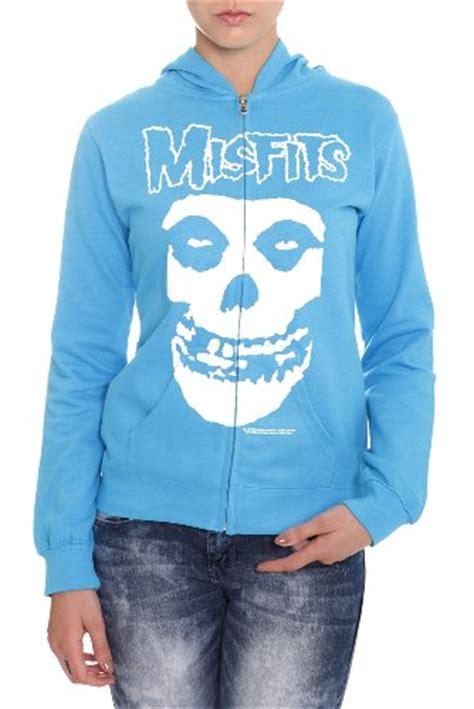 Zipper Hoodie Misfits misfits crimson ghost turquoise zip hoodie zip sweater