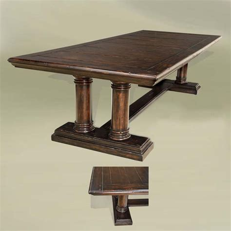 Western Dining Tables Sonoma Rustic Pedestal Dining Table Western Dining Tables Free Shipping