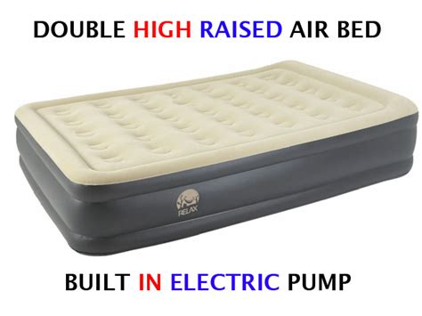 Raised Air Bed Frame High Raised Air Bed Mattress Airbed W Built In Electric Ebay