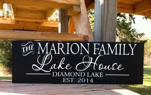 Personalized Signs For Home Decorating Lake House Sign Lake House Decor Custom Lake House
