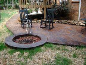 Patios And Firepits Sted Concrete Patio With Pit