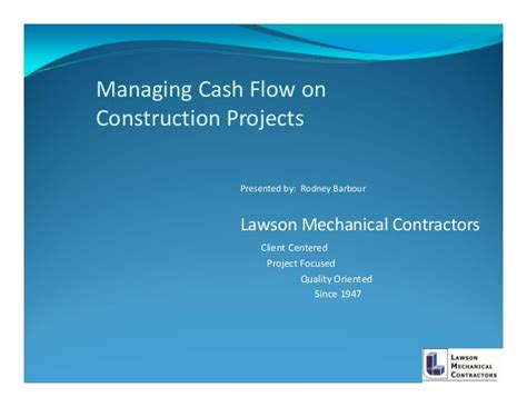 construction flow projection template managing flows on construction projects