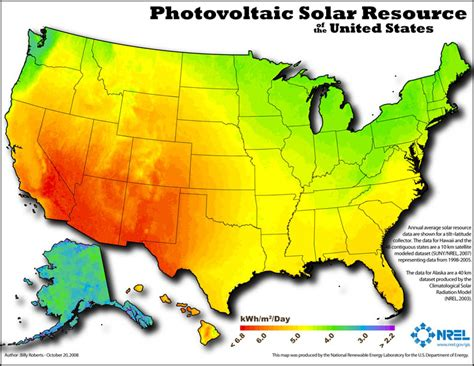 solar radiation map usa renewable energy resources library index global