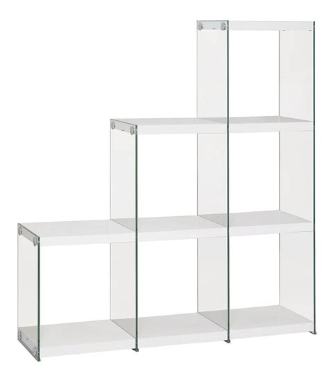 801261 Glossy White Bookcase From Coaster 801261 Gloss White Bookcase
