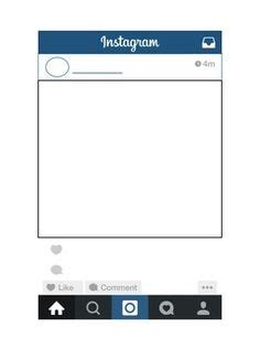 Free Instagram Template Great For Student Project Printables For Classroom Pinterest Free Instagram Photo Frame Template