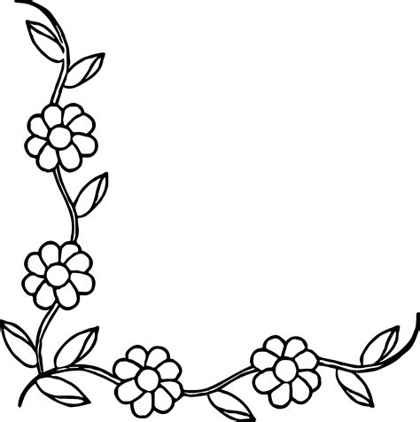 rose border coloring page flower border coloring page wecoloringpage
