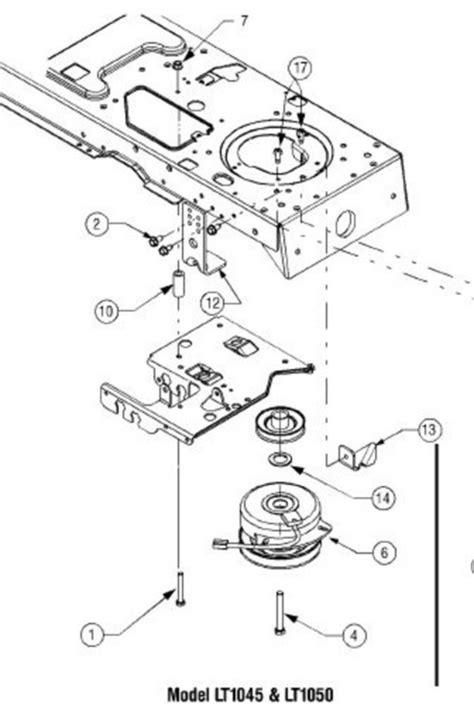 cub cadet ltx 1045 parts diagram cub cadet lt1045 pto wiring diagram 35 wiring diagram