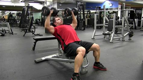 45 degree incline bench incline dumbbell chest press 45 degree youtube
