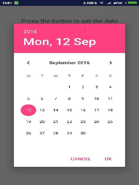 android datepicker android date picker