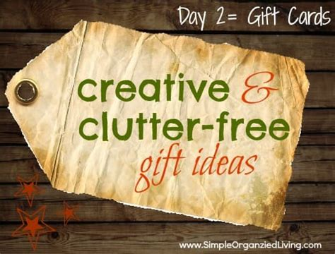 Creative Gift Card - creative clutter free gifts day 2 gift cards andrea dekker