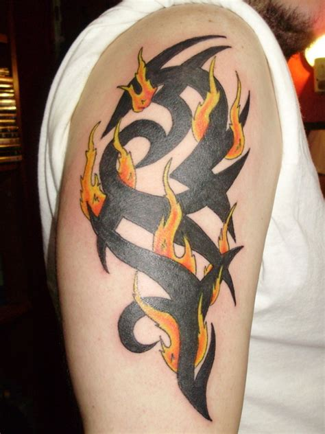 tribal flame tattoos on arm 23 wonderful tribal and only tribal