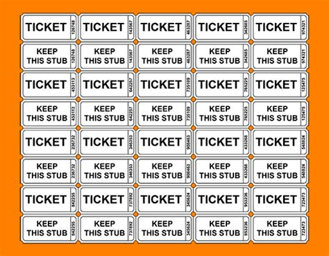 free printable meal tickets meal ticket template group 47