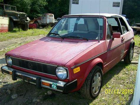 car engine manuals 1986 volkswagen cabriolet navigation system buy used 1986 red volkswagen cabriolet convertible 2 door 1 8l parts repair alloy wheels in