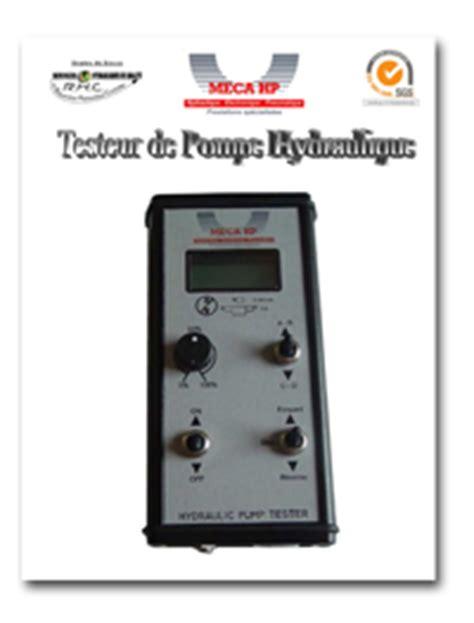 bureau d 騁ude automatisme testeur pompe hydraulique meca hp sp 233 cialiste