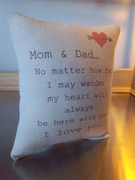 gifts for and and pillow anniversary gift quote throw
