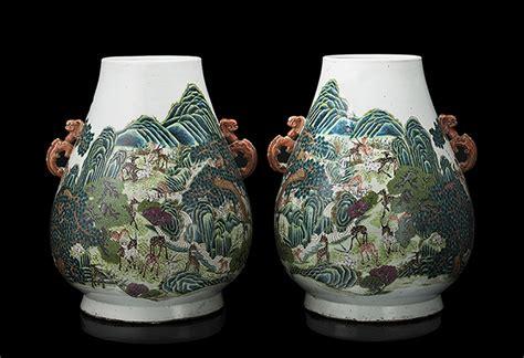 vasi decorati due luminosi dipinti di sebastiano e marco ricci in asta