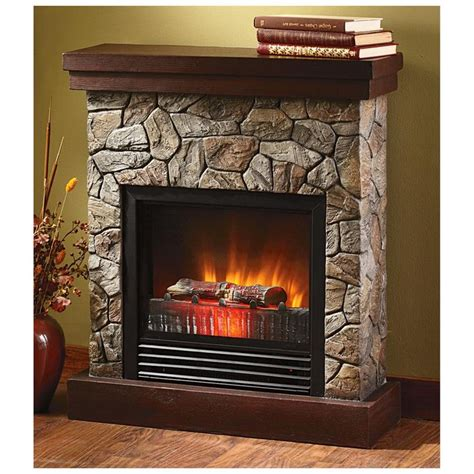 electric fireplace for bedroom castlecreek electric quot stone quot fireplace heater electric