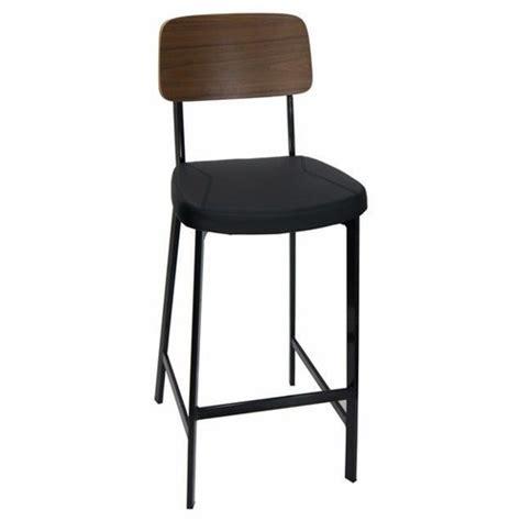 estelle bar stool with vinyl padded seat walnut