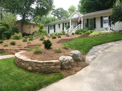 sloping front yard landscaping triyae ideas for a sloped front yard various