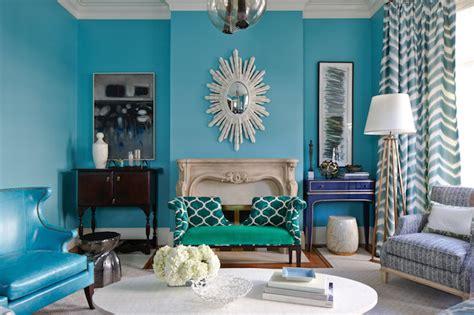 Turquoise Living Room   Eclectic   Living Room   Massucco Warner Miller