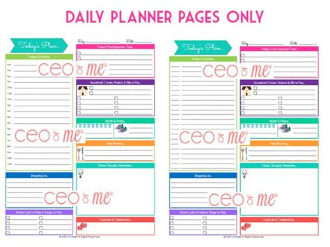 printable hourly planner pages printable daily planner pages with hourly schedule
