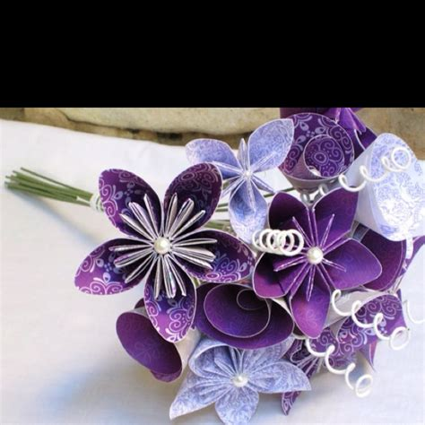 Origami Flower Wedding - 17 best images about bouquet on floral