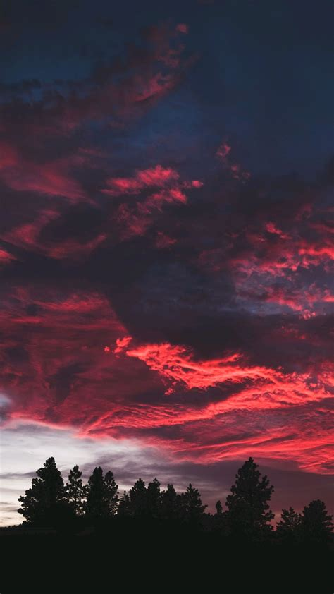 red clouds sunset nature iphone wallpaper iphone wallpapers