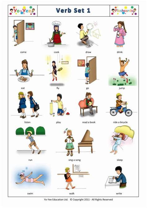 imagenes ingles verbos verbos en dibujos imagui