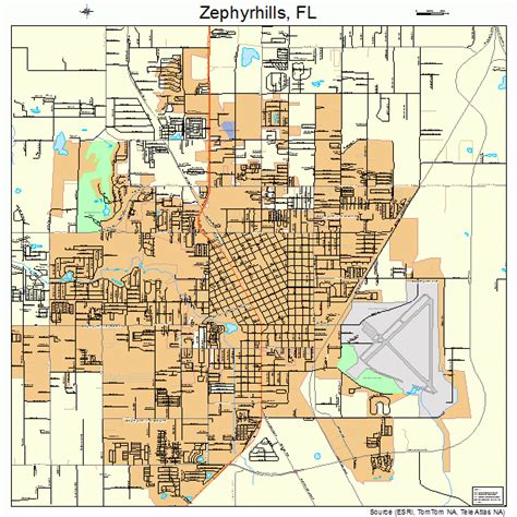 map of zephyrhills florida area zephyrhills florida map 1279225