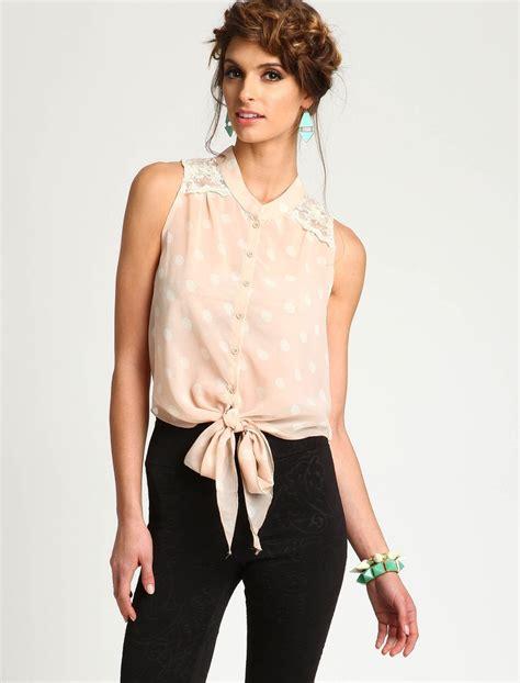 Preloved Blouse Atasan Polkadot Second polka dot lace blouse fantasay wardrobe