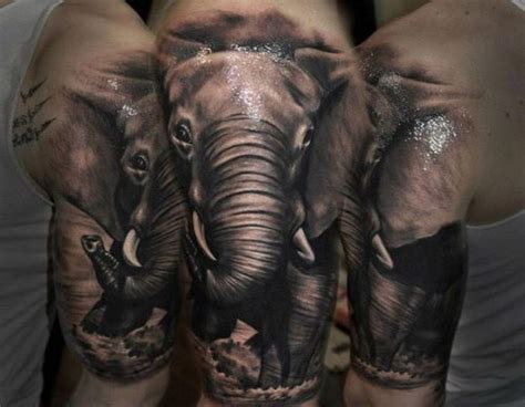 elephant arm tattoo half sleeve elephant design designs