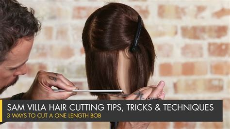 how do i cut a diy stacked bob 3 ways to cut a one length bob youtube