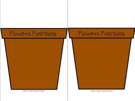 potted flower card templates plant pot template clipart best diy and crafts
