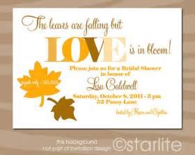 fall wedding shower invitation wording items similar to fall theme autumn theme bridal shower invitation fall colors leaves