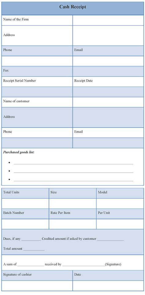 Loan Receipt Template by Receipt Template Of Receipt Sle Templates