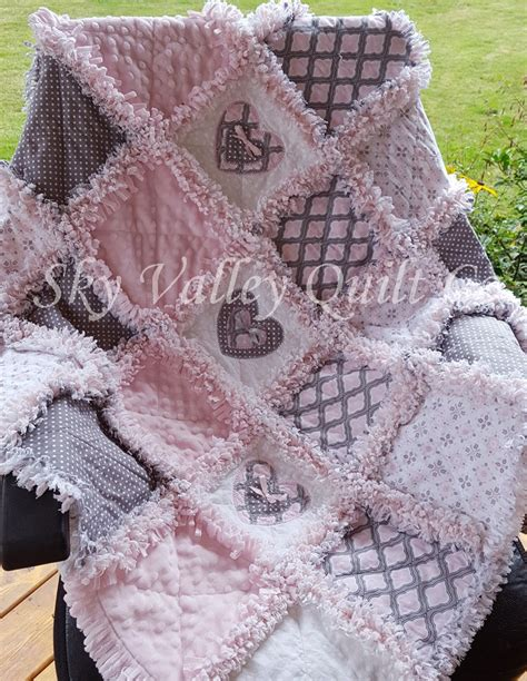 Pre Cut Rag Quilt Kits by Pre Cut Rag Quilt Kit Or Layer Cake Pink And Gray Classics