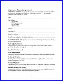 1099 Contractor Agreement Template Free Contractor Agreement Forms Submited Images