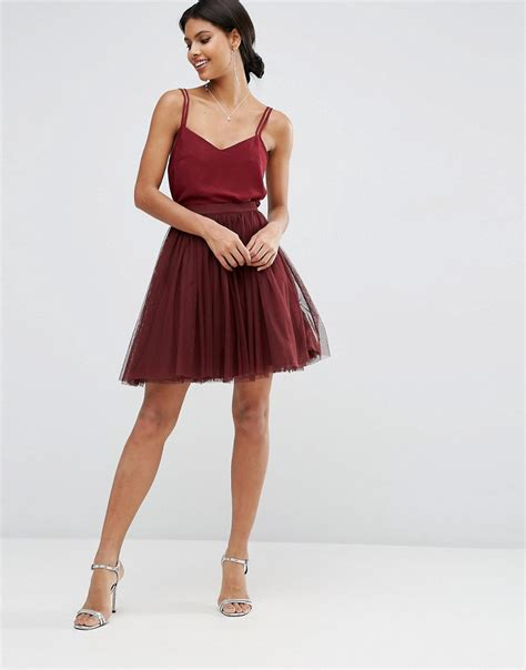 Tulle P Da asos asos wedding tulle mini prom skirt with multi