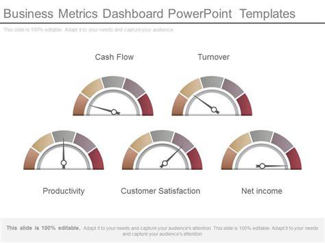 Business Metrics Dashboard Powerpoint Templates Kpi Dashboard Powerpoint Template