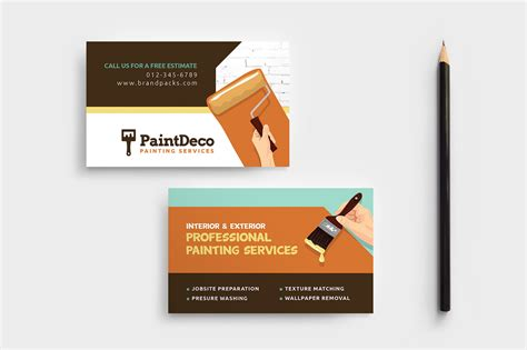 painter business card template free painter decorator business card template in psd ai