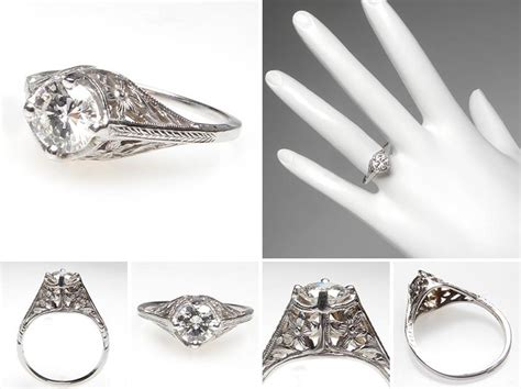beautiful vintage wedding rings 1920 wedwebtalks