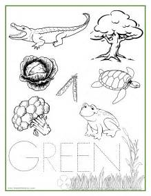 green coloring pages printable coloring sheets