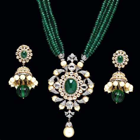 Emerald Pendant Sets From Pc Jewellers Jewellery Deals