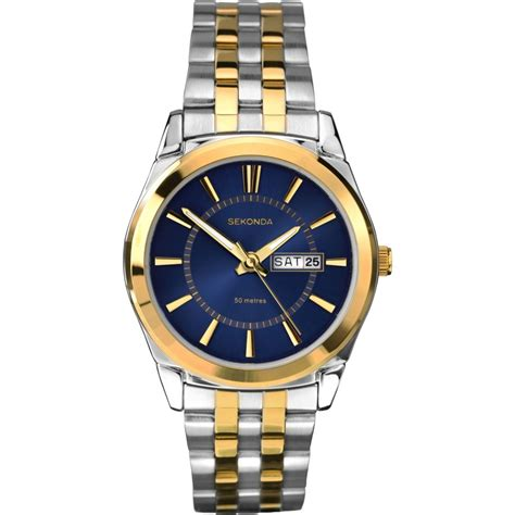 sekonda s two tone stainless steel